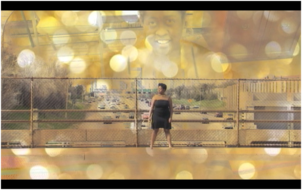 "video still from ""Locus of Gold"" by Ellen Marie Hinchcliffe with Gabrielle Civil"